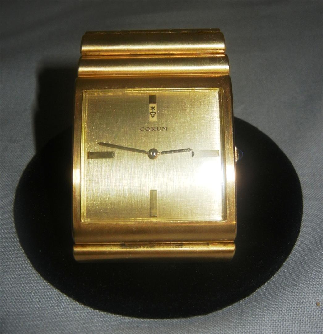 """207: 18K Heavy Gold Corum """"Spartacus"""" Watch - 2"""