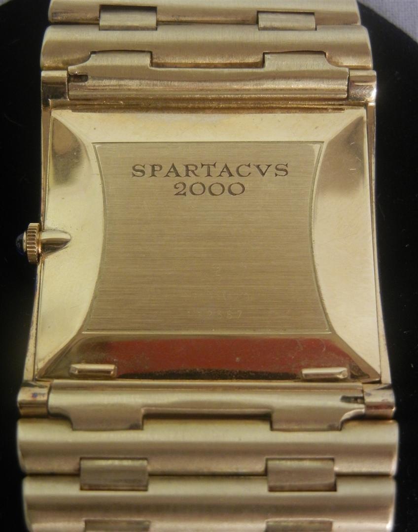 """207: 18K Heavy Gold Corum """"Spartacus"""" Watch - 4"""