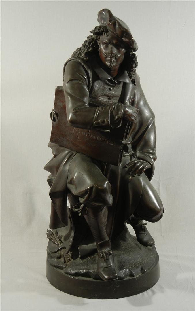 411: Albert E. Carrier Belleuse, Bronze Rembrandt