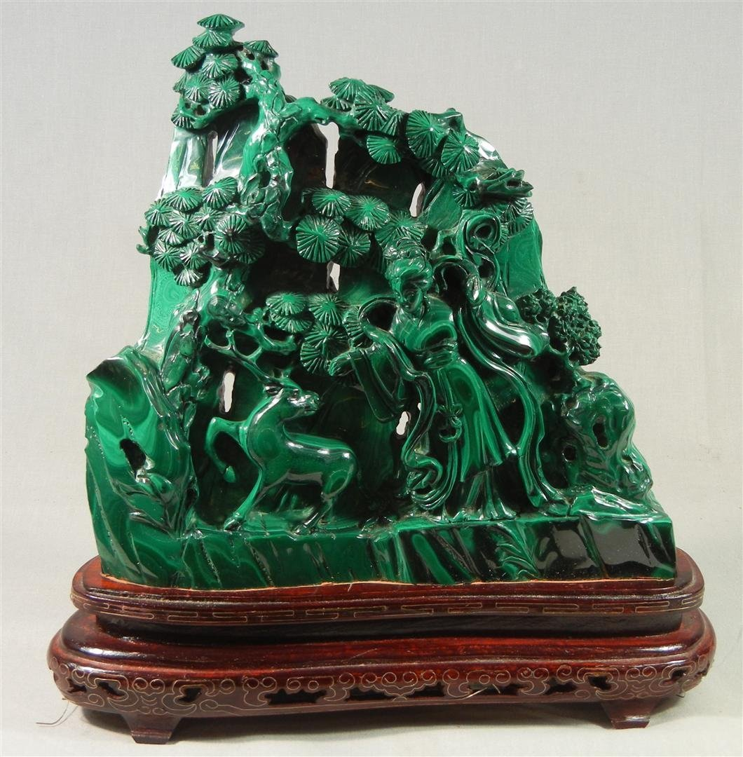415: Chinese Malachite Carving