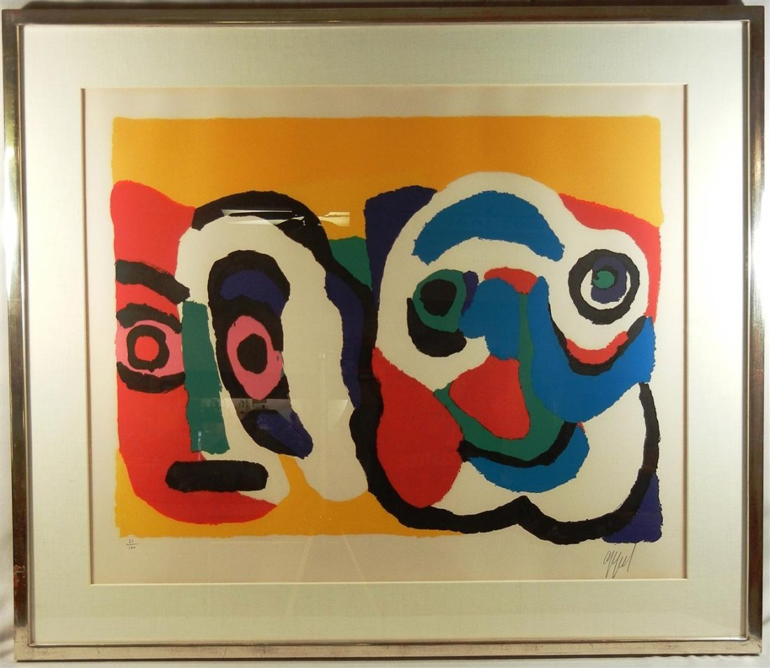 419: Karel Appel, Lithograph in Color