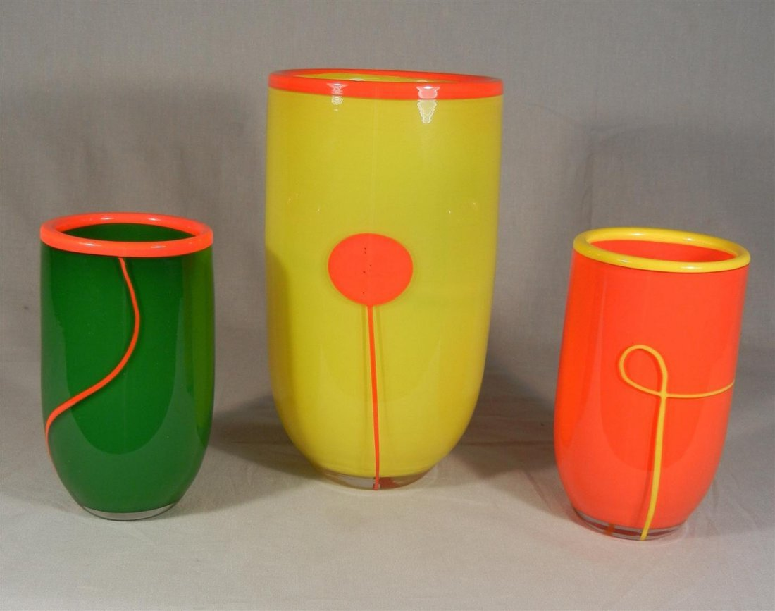 421: Three Rosenthal Art Glass Vases