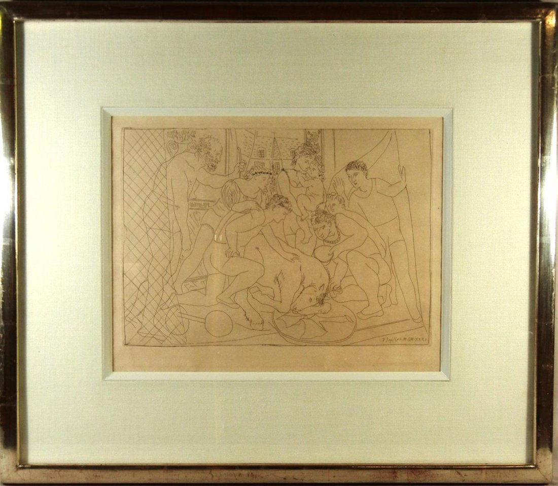 423: Pablo Picasso, Black & White Etching