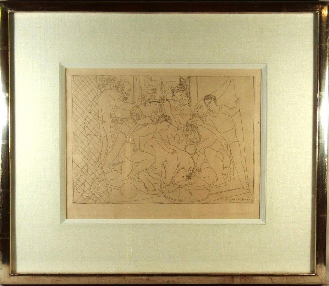 423: Pablo Picasso, Black & White Etching