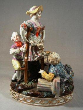 Meissen Children Figural Group