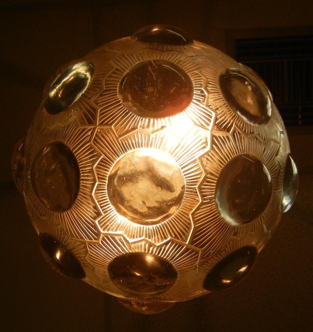 """474: R. Lalique Chandelier, """"Soleil"""" - 2"""