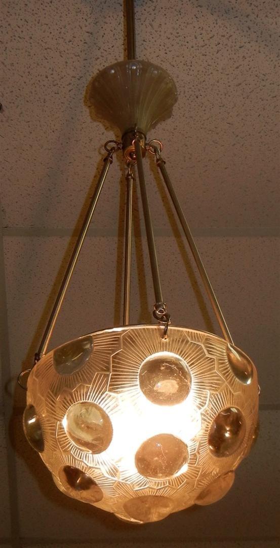 """474: R. Lalique Chandelier, """"Soleil"""" - 3"""