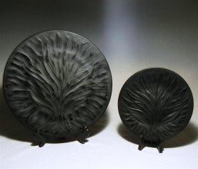 """Lalique Plates (24) """"Algues"""""""