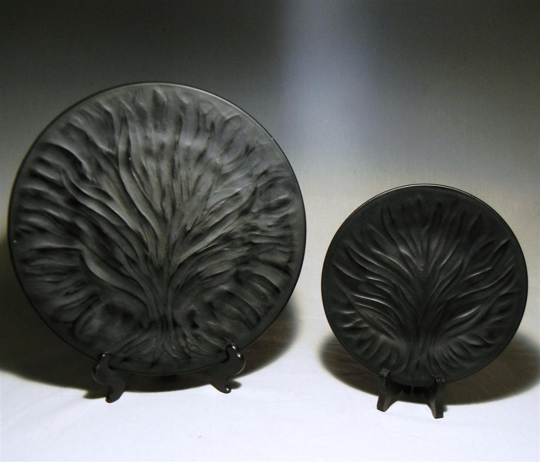 """477: Lalique Plates (24) """"Algues"""""""