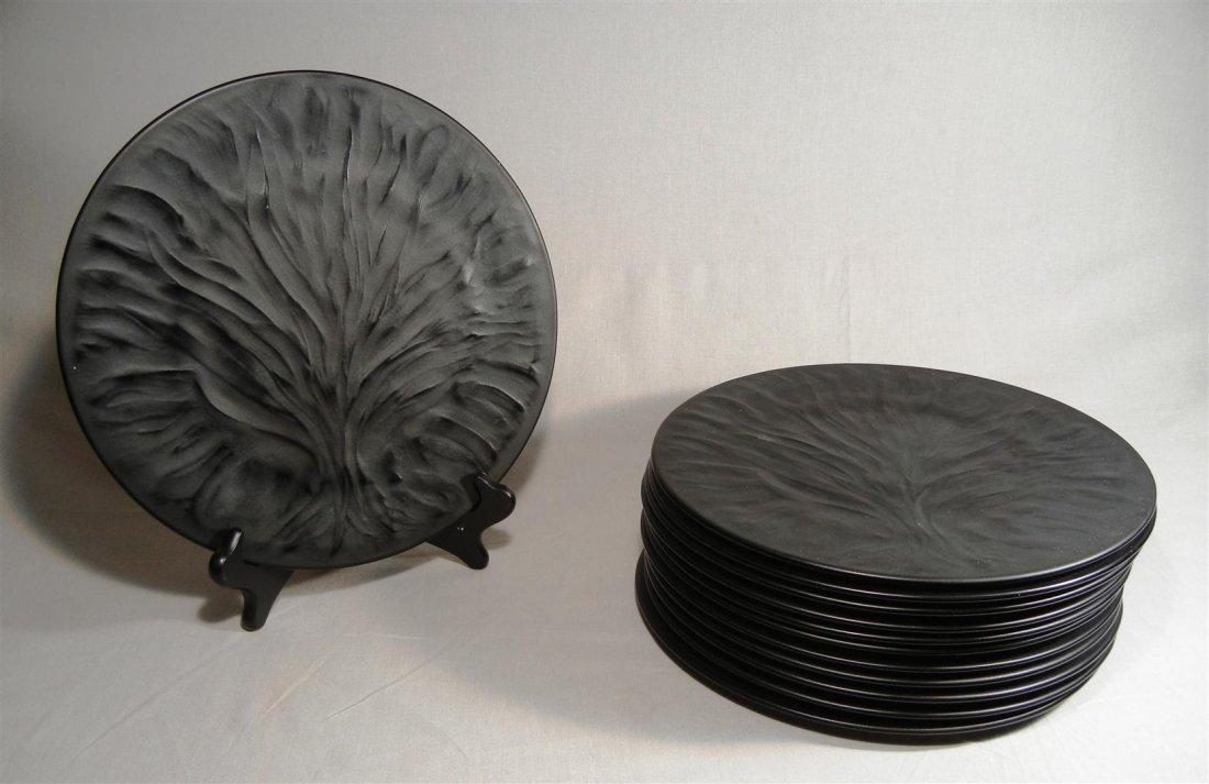 """477: Lalique Plates (24) """"Algues"""" - 2"""