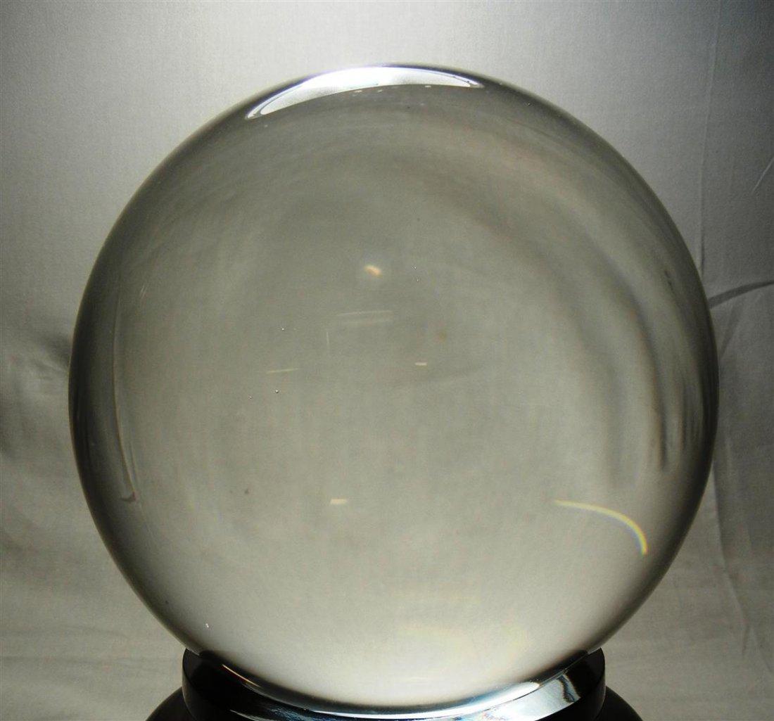 482: 20thc. Crystal Sphere on Teak Base - 3