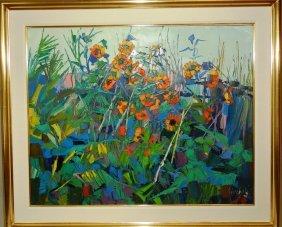 "Nicola Simbari ""Field Flowers"" O/C"