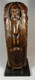 499: Paul Gauguin, Bronze Totem Sculpture
