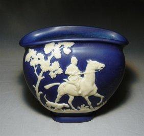 Weller Equestrian Pottery Vase