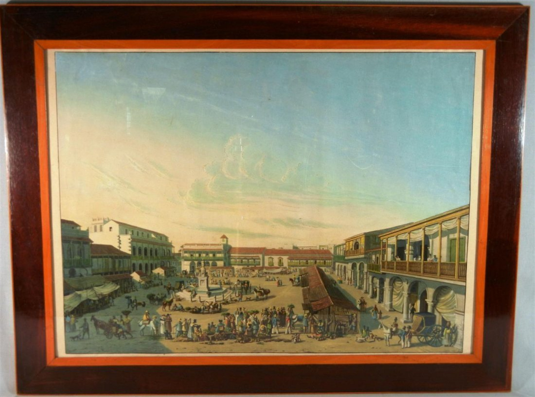 510: Hand-Colored European Lithograph