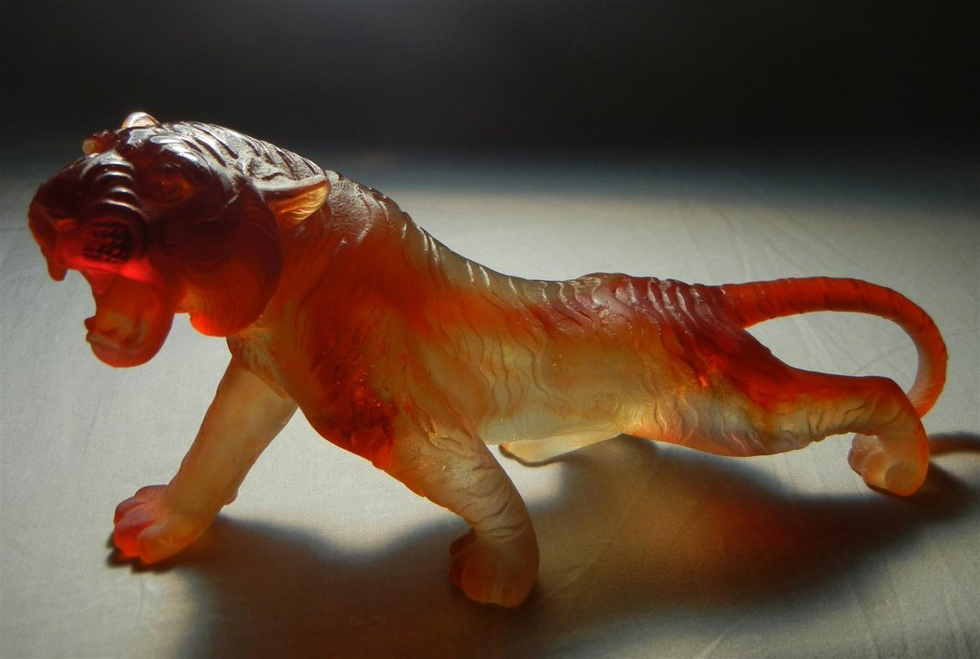 519: Daum Pate De Verre Tiger