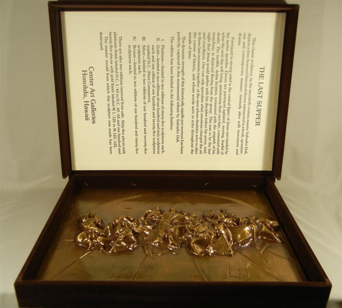 556: Salvador Dali, Bronze, The Last Supper  - 3