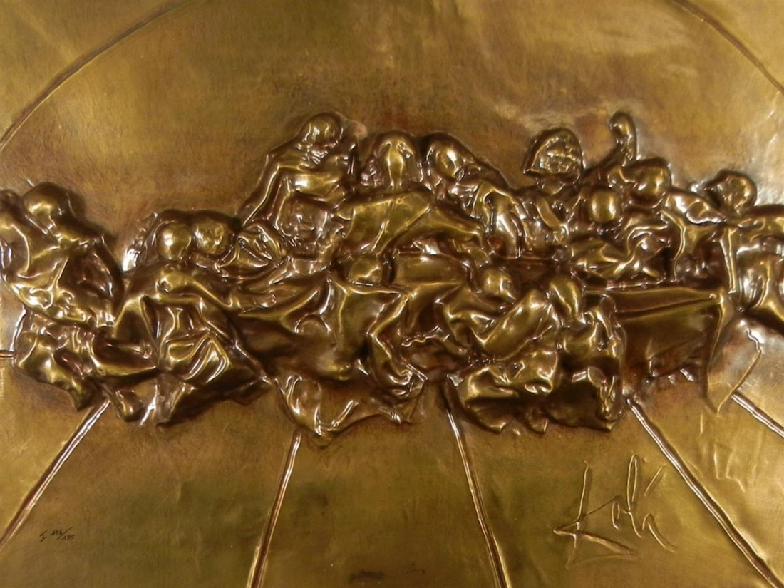 556: Salvador Dali, Bronze, The Last Supper  - 5