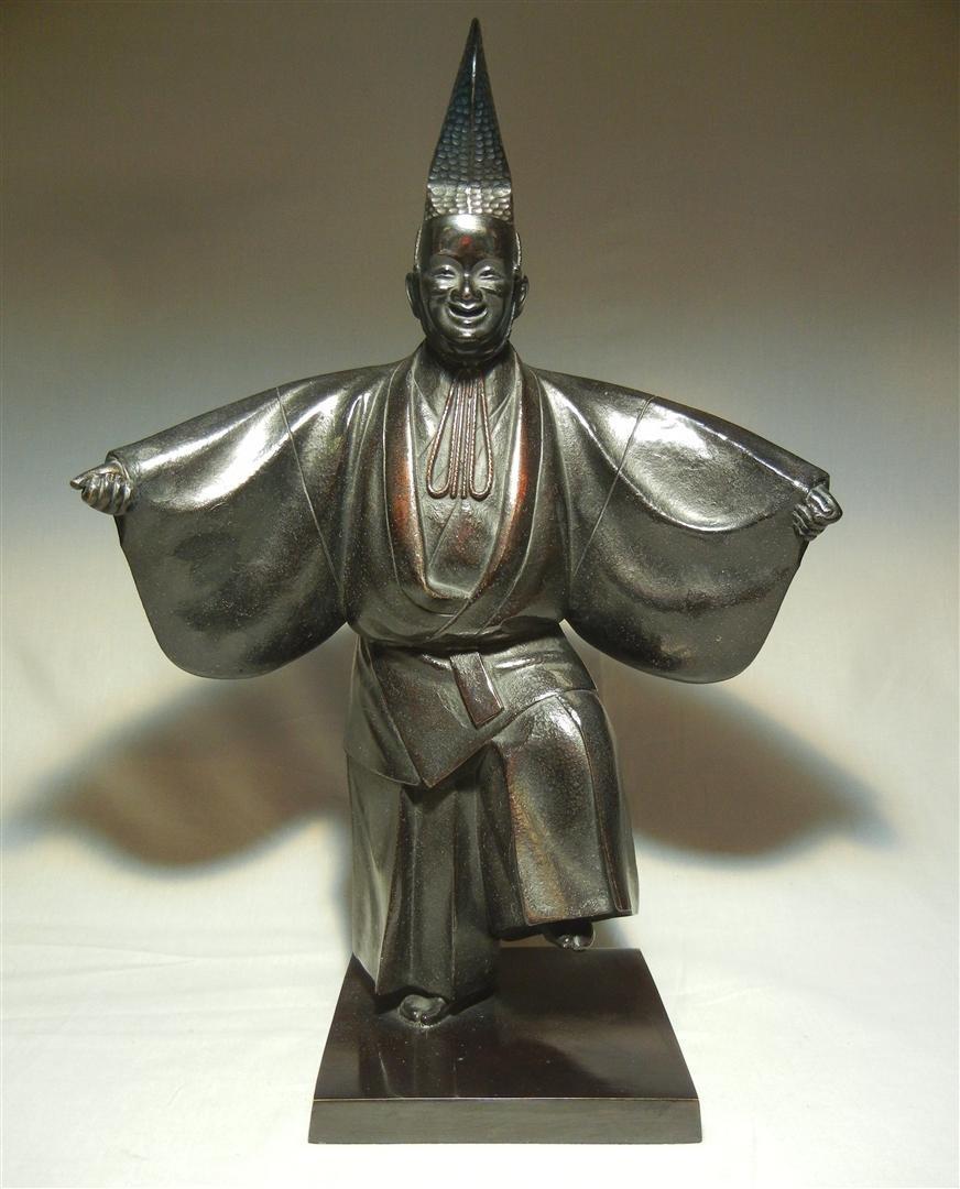 657: Modern Bronze & Copper Japanese Dancer