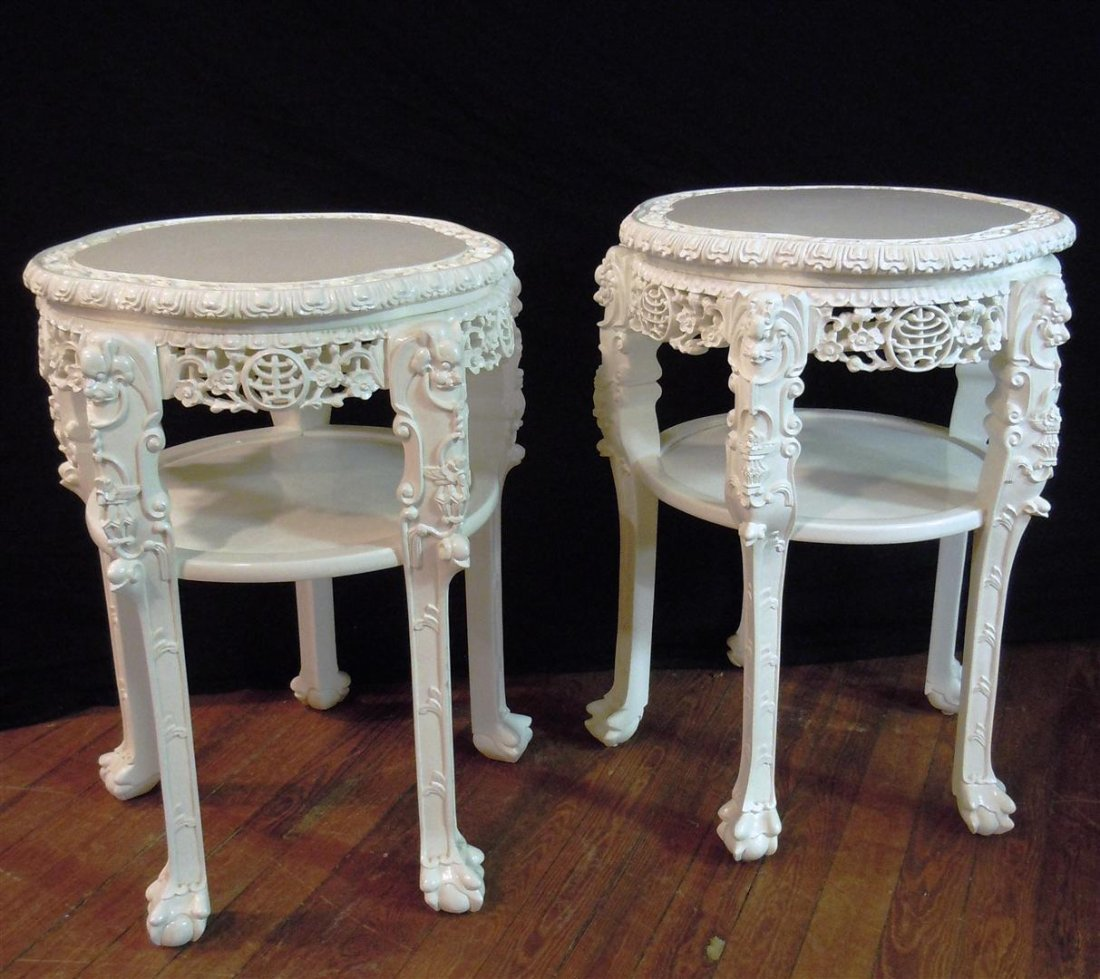 663: 19thc. Chinese Padouk Wood Tables