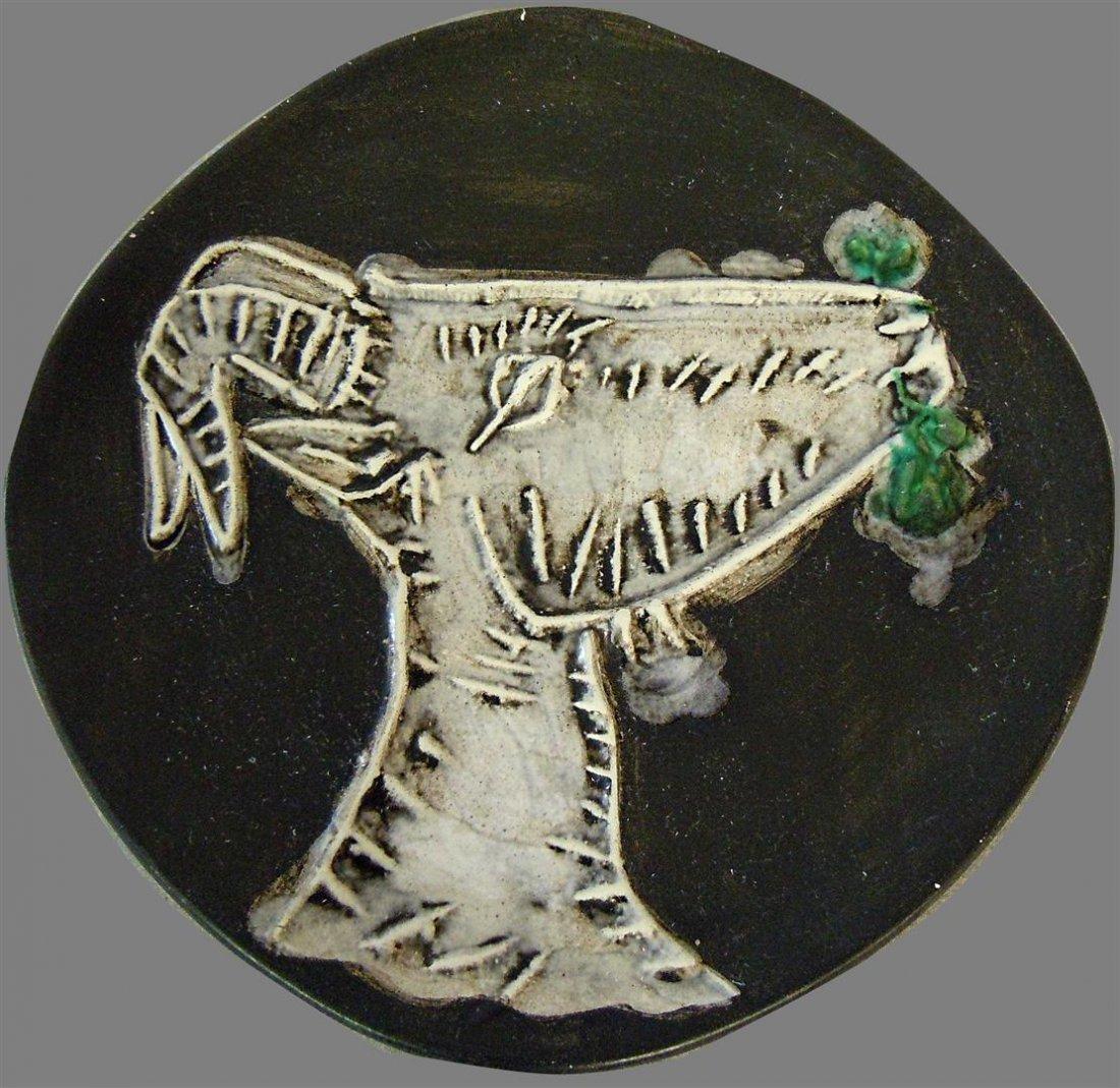 Pablo Picasso Madoura Ceramic Plate, No. 96
