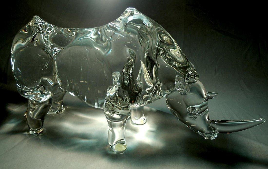 Fine Murano Glass Rhinoceros
