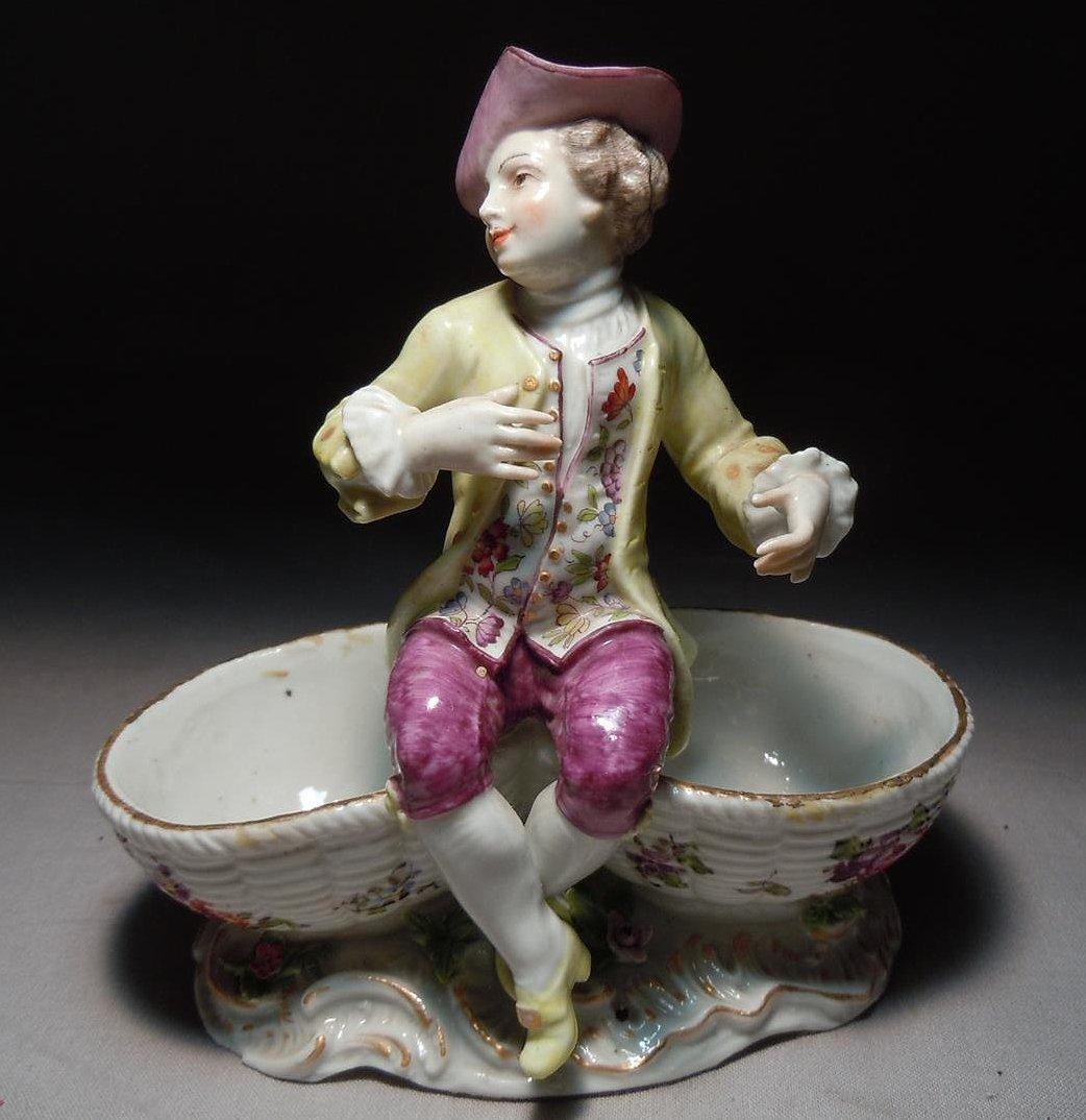 Double Dish Vienna Porcelain Figure