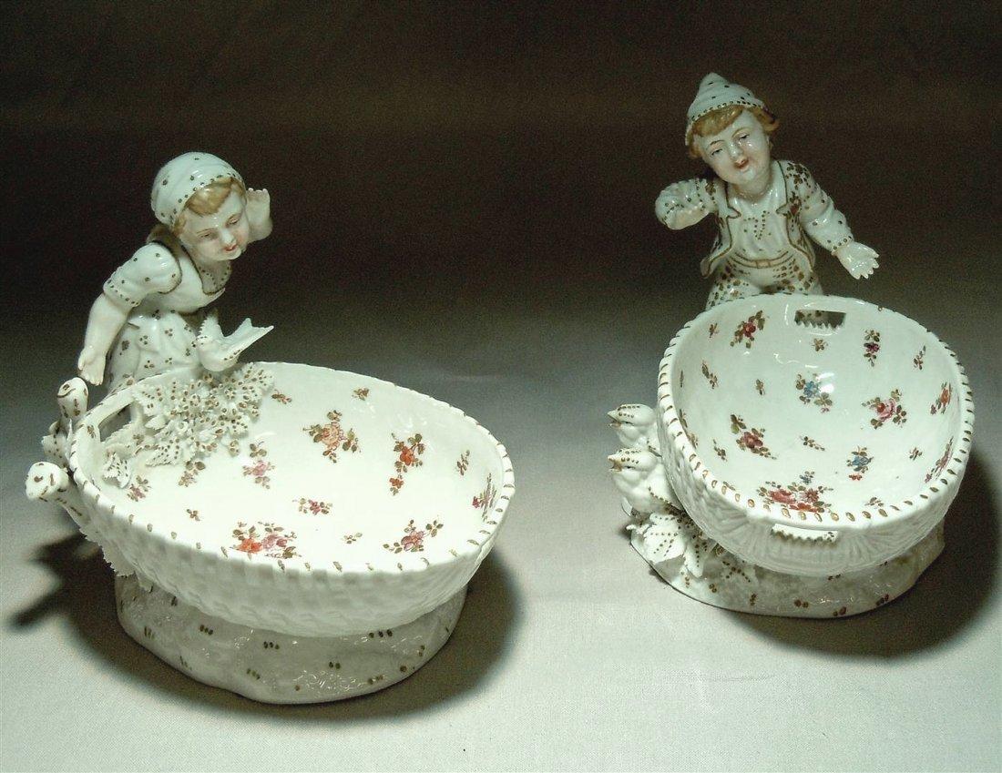 Pair Of German Porcelain Serving Bowls