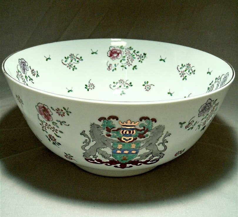 20thc. Armorial Punch Bowl