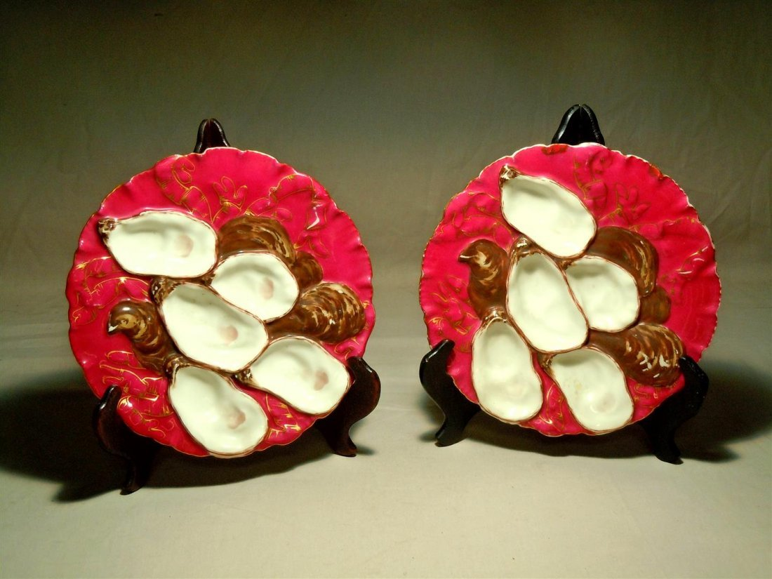 Pair of Haviland Limoges Oyster Plates