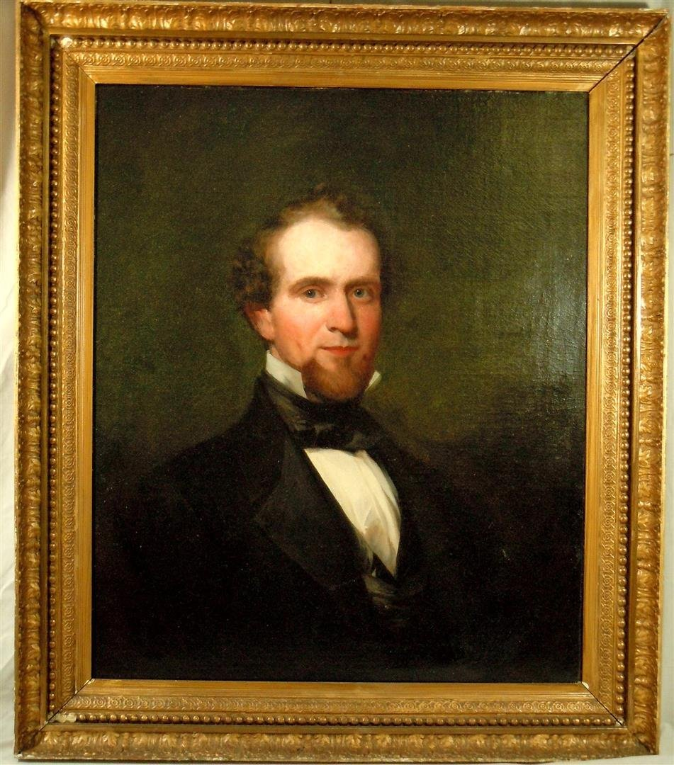 19thc. Portrait of Gentleman, O/C