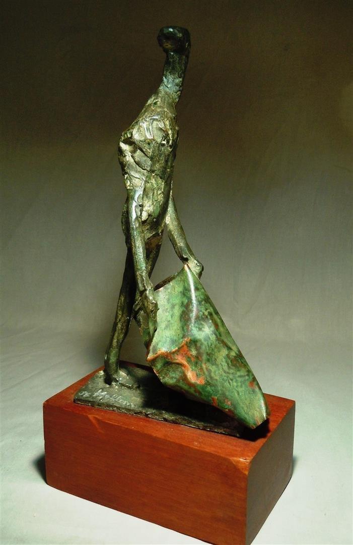 Herbert Kallem, Abstract Bronze Sculpture