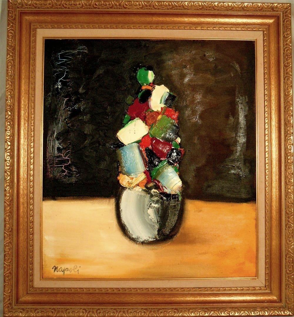 Giuseppe Napoli, Italian Oil Painting on Canvas