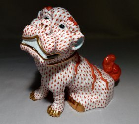 Herend Foo Lion Figure
