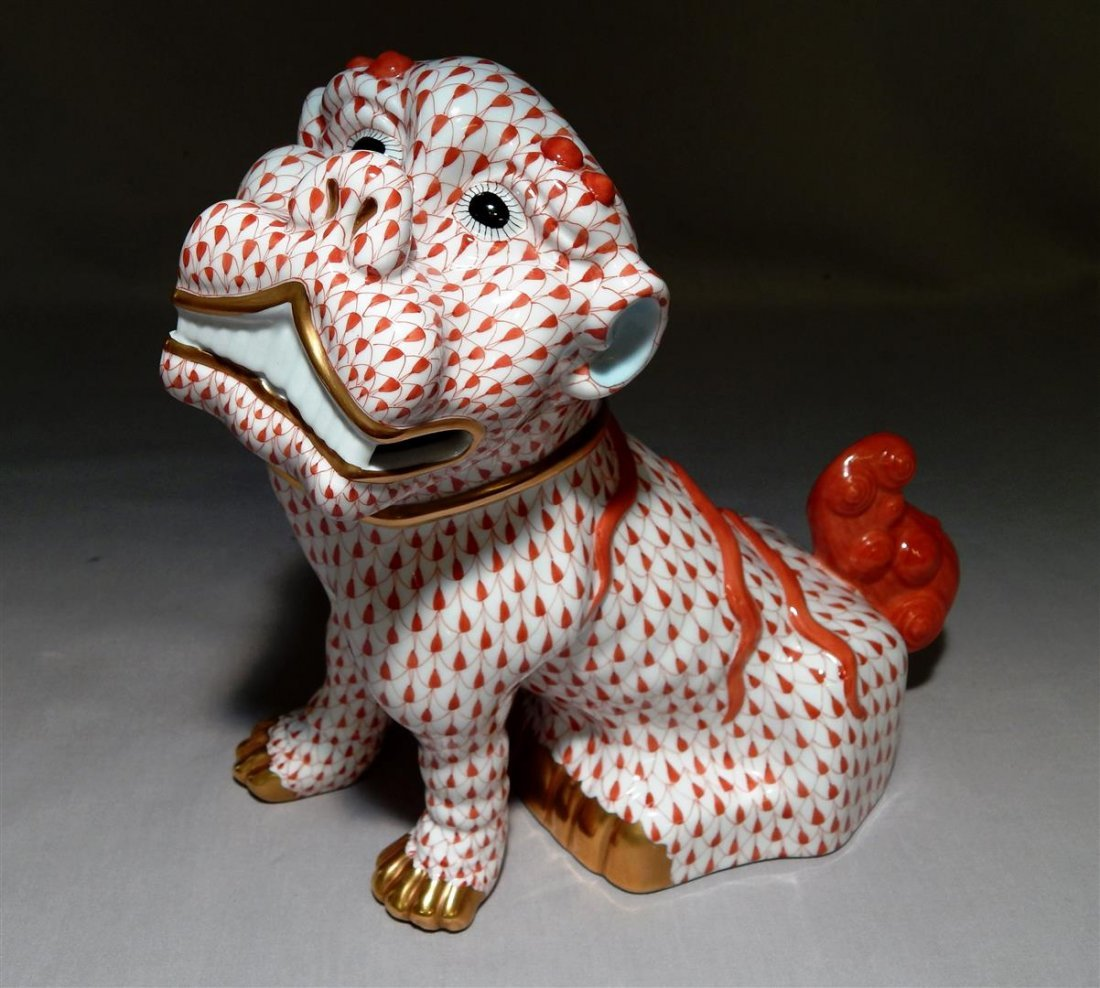 Herend Foo Lion Figure