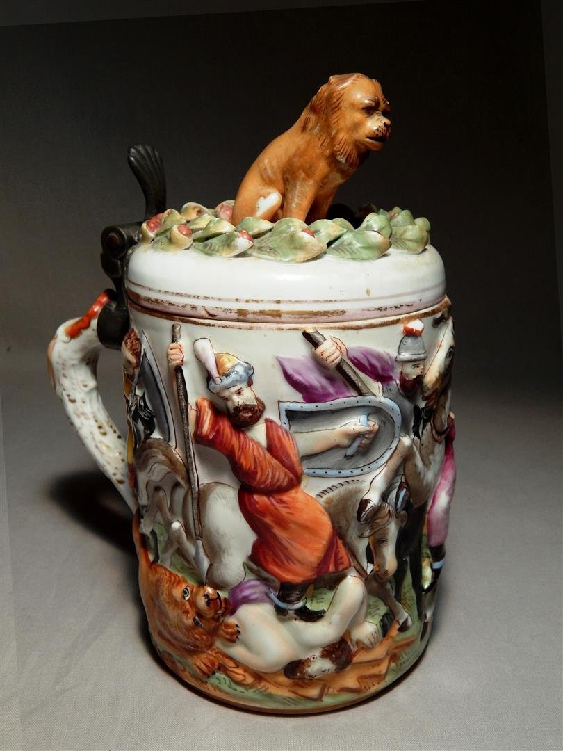 Capodimonte Porcelain Beer Stein
