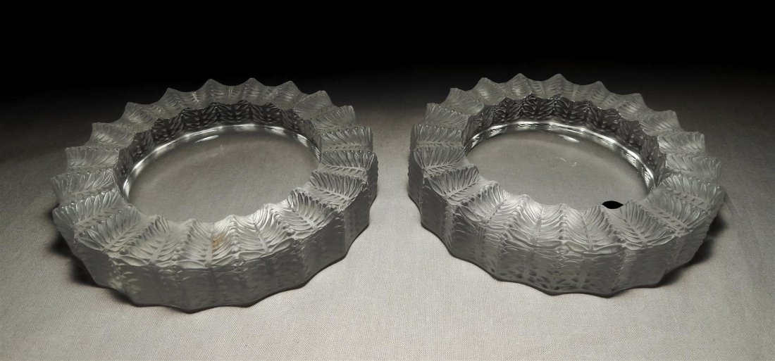 "Pair of Lalique ""Jamaique"" Ashtrays"