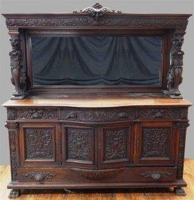 Heavily Carved Horner Sideboard