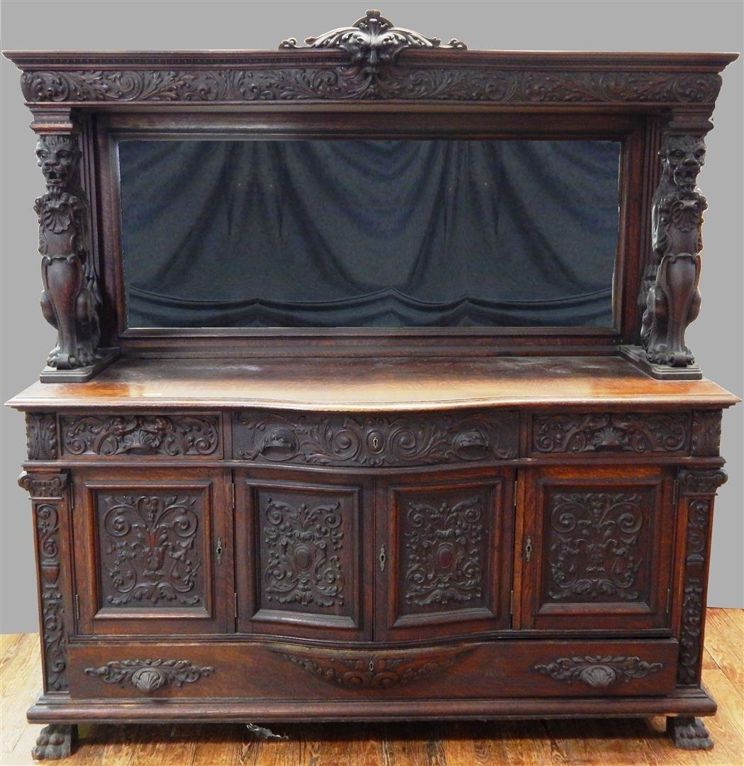 Heavily Carved Horner Sideboard