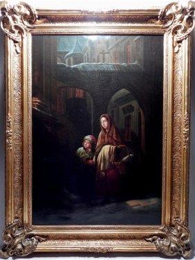 Carl Wilhelm Hubner, Oil on Canvas