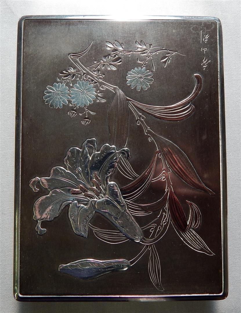 Japanese Mixed Metal Sterling Box