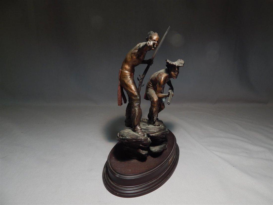 "Ernie Cselko Native American Bronze, ""Intruder Alert"" - 3"