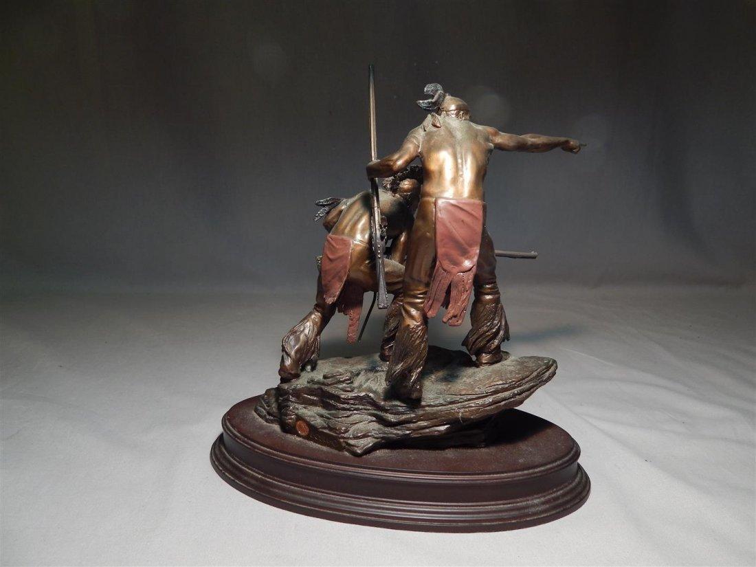 "Ernie Cselko Native American Bronze, ""Intruder Alert"" - 4"