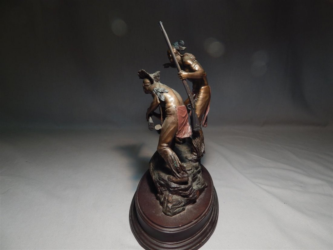 "Ernie Cselko Native American Bronze, ""Intruder Alert"" - 5"