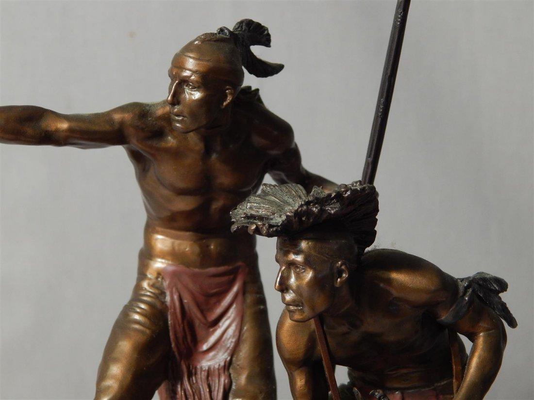 "Ernie Cselko Native American Bronze, ""Intruder Alert"" - 6"