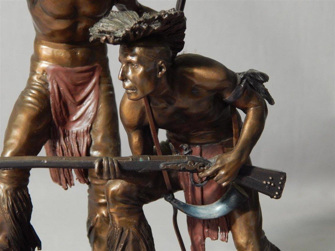 "Ernie Cselko Native American Bronze, ""Intruder Alert"" - 7"