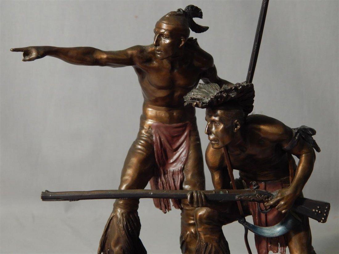 "Ernie Cselko Native American Bronze, ""Intruder Alert"" - 9"
