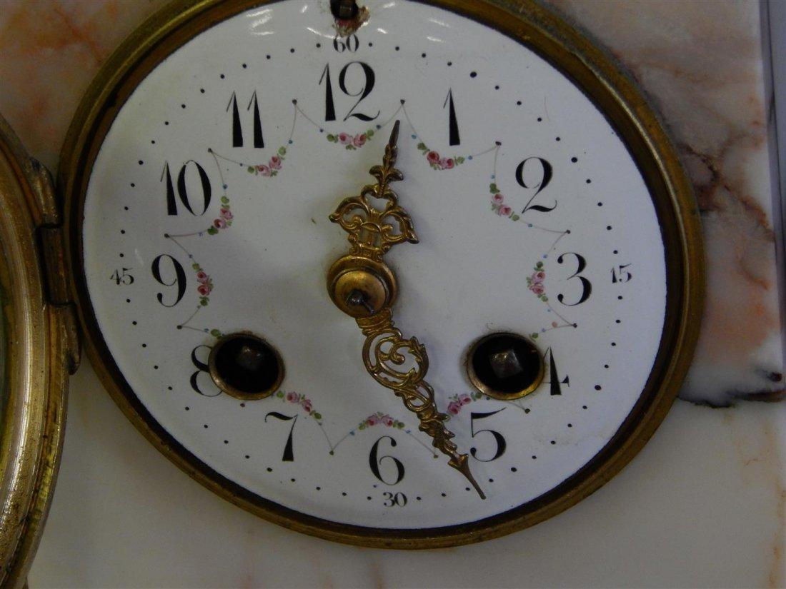 L. Carvin Art Deco Bronze and Marble Sculpture Clock - 7