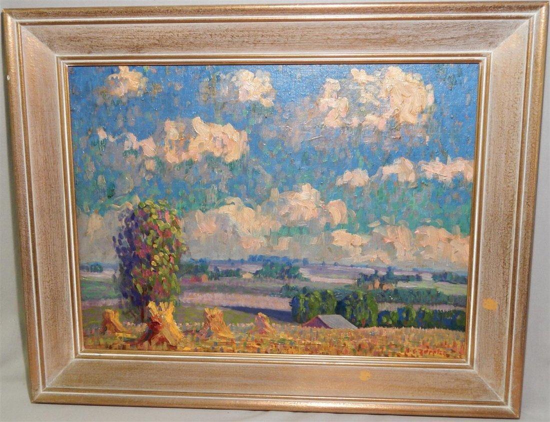 Zappatos Landscape Oil on Board