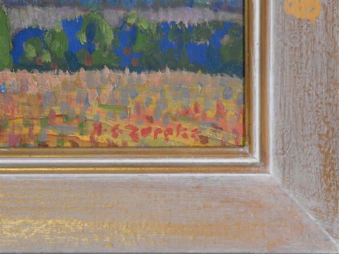 Zappatos Landscape Oil on Board - 2